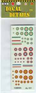 AL-101 Allied WWI decals 1/285-1/300 scale